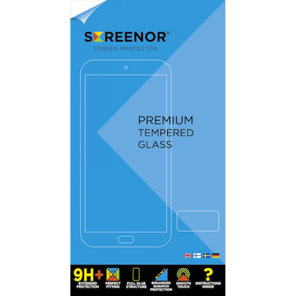 Apsauginis stiklas Screenor Premium Tempered Glass Nokia 3