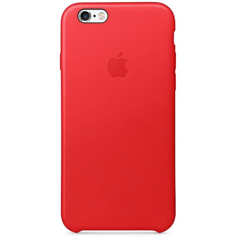 Nugarėlė Apple iPhone 6/6s Leather Case Red