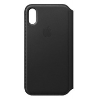 Dėklas Apple iPhone X/XS Leather Folio Black