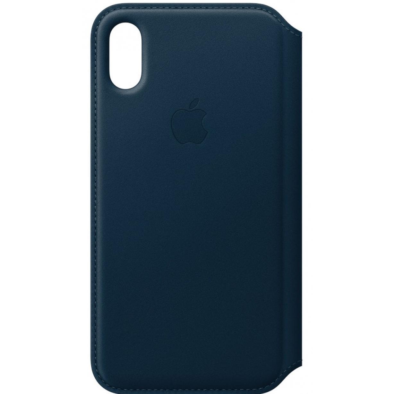Dėklas Apple iPhone X Leather Folio Cosmos Blue