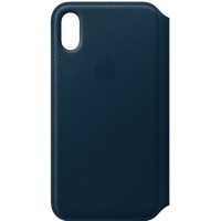 Dėklas Apple iPhone X/XS Leather Folio Cosmos Blue