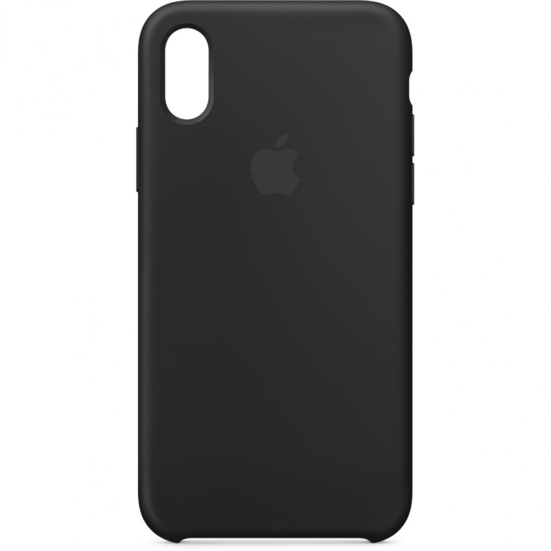Nugarėlė Apple iPhone X Silicone Case Black