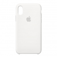 Nugarėlė Apple iPhone X/XS Silicone Case White