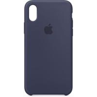 Nugarėlė Apple iPhone X/XS Silicone Case Midnight Blue