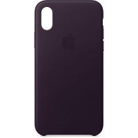 Nugarėlė Apple iPhone X/XS Leather Case Dark Aubergine