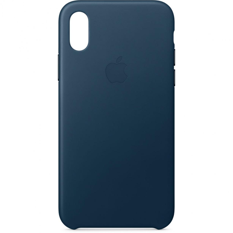 Nugarėlė Apple iPhone X Leather Case Cosmos Blue