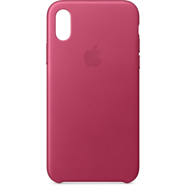 Nugarėlė Apple iPhone X/XS Leather Case Pink Fuchsia