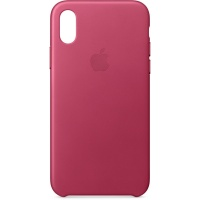 Nugarėlė Apple iPhone X/XS Leather Case Pink Fuchsia