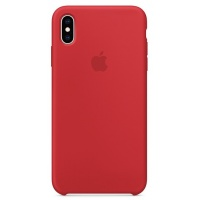 Nugarėlė Apple iPhone XS Max Silicone Case Red