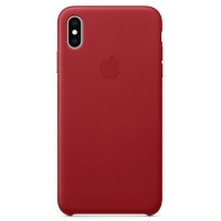 Nugarėlė Apple iPhone XS Max Leather Case Red
