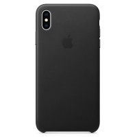 Nugarėlė Apple iPhone XS Max Leather Case Black