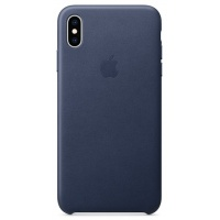 Nugarėlė Apple iPhone XS Max Leather Case Midnight Blue