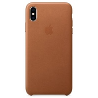 Nugarėlė Apple iPhone XS Max Leather Case Saddle Brown