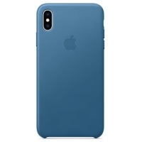Nugarėlė Apple iPhone XS Max Leather Case Cape Cod Blue