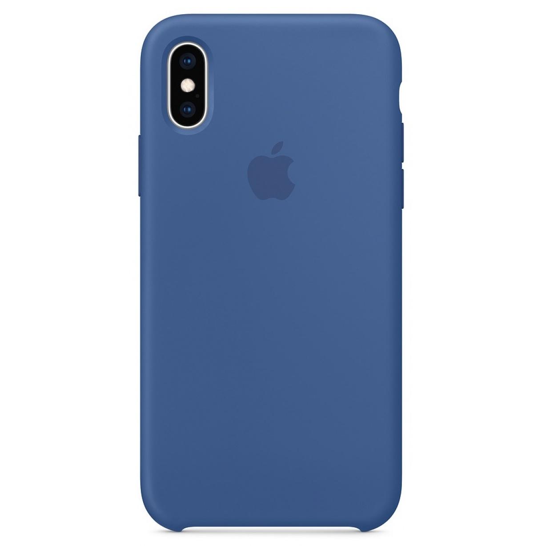 Nugarėlė Apple iPhone X/XS Silicone Case Delft Blue