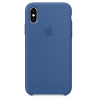 Nugarėlė Apple iPhone X/XS Silicone Case Delft Blue