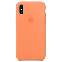 Nugarėlė Apple iPhone X/XS Silicone Case Papaya