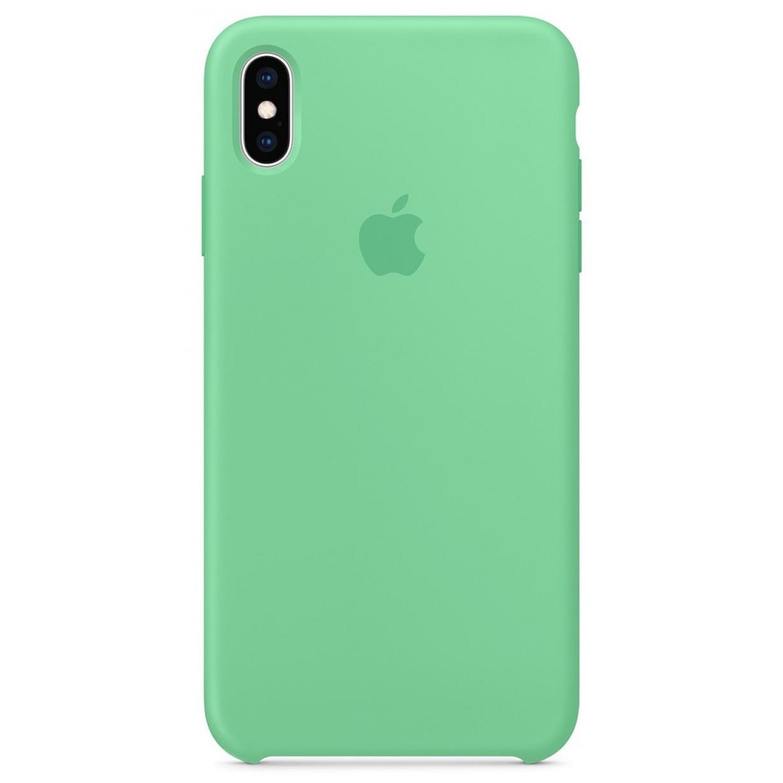 Nugarėlė Apple iPhone XS Max Silicone Case Spearmint