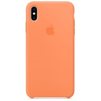 Nugarėlė Apple iPhone XS Max Silicone Case Papaya