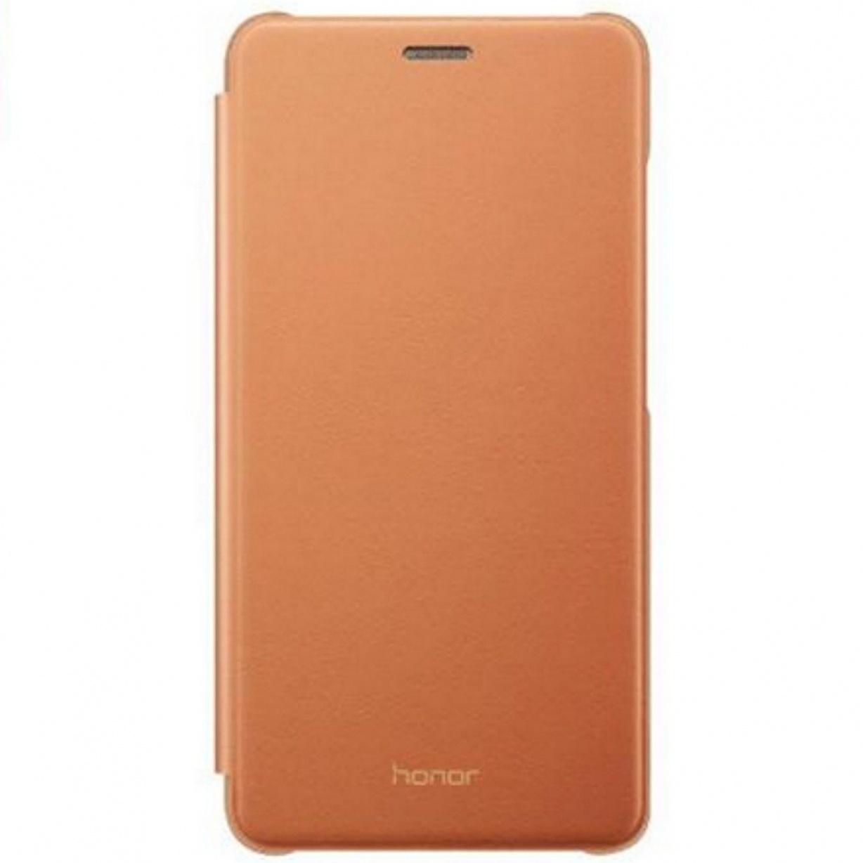 Dėklas Huawei Honor 7 Lite Flip Case Brown
