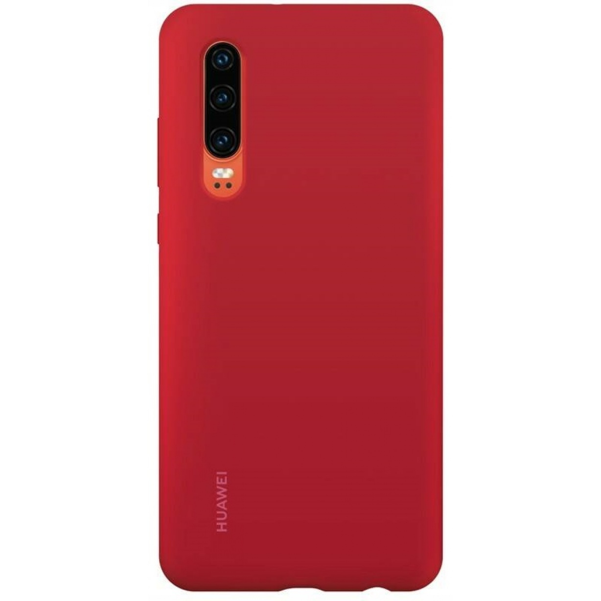 Nugarėlė Huawei P30 Silicone Car Case Bright Red