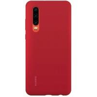 Nugarėlė Huawei P30 Silicone Car Case Bright Red