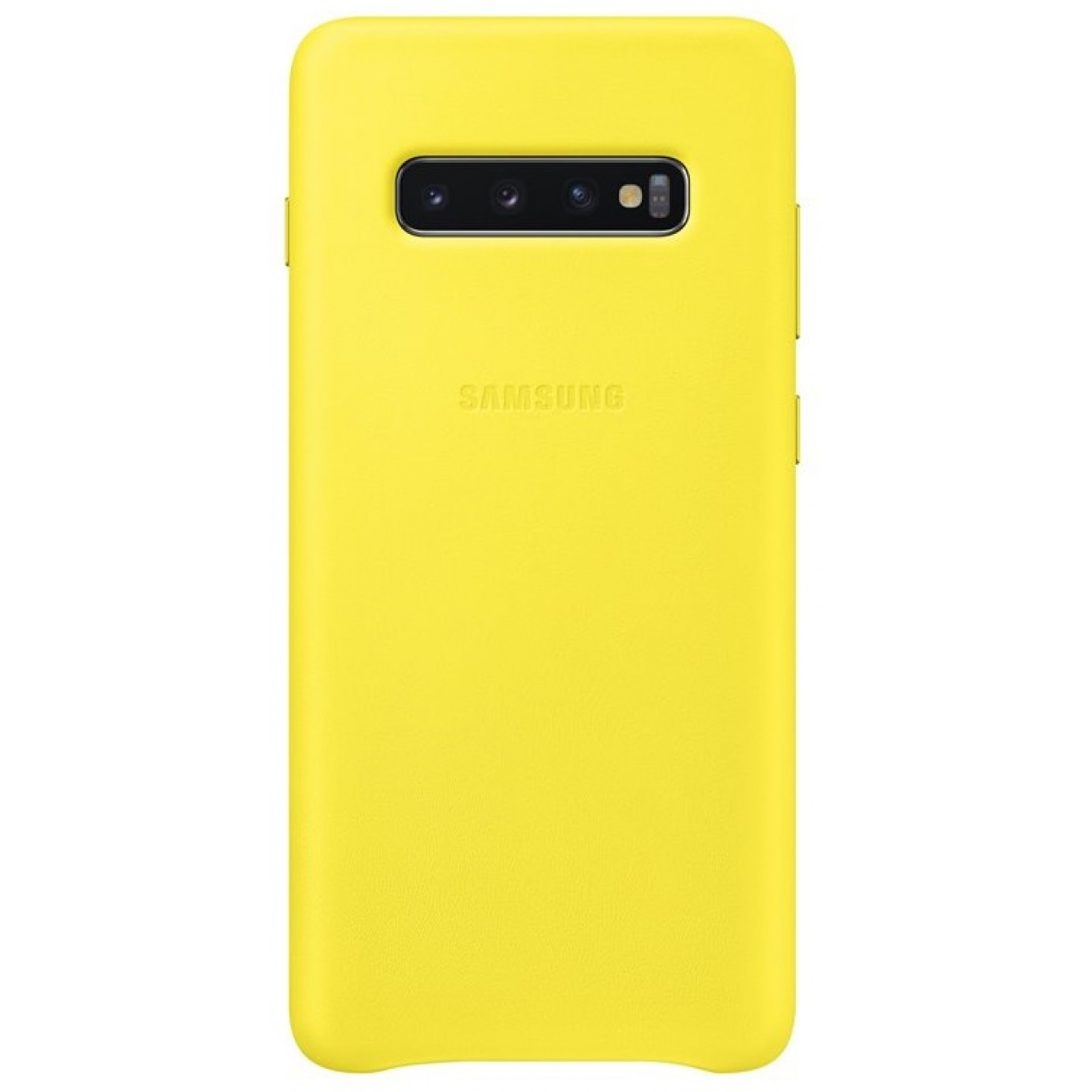 Nugarėlė G975 Samsung Galaxy S10+ Leather Cover Yellow