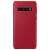 Nugarėlė G973 Samsung Galaxy S10 Leather Cover Red