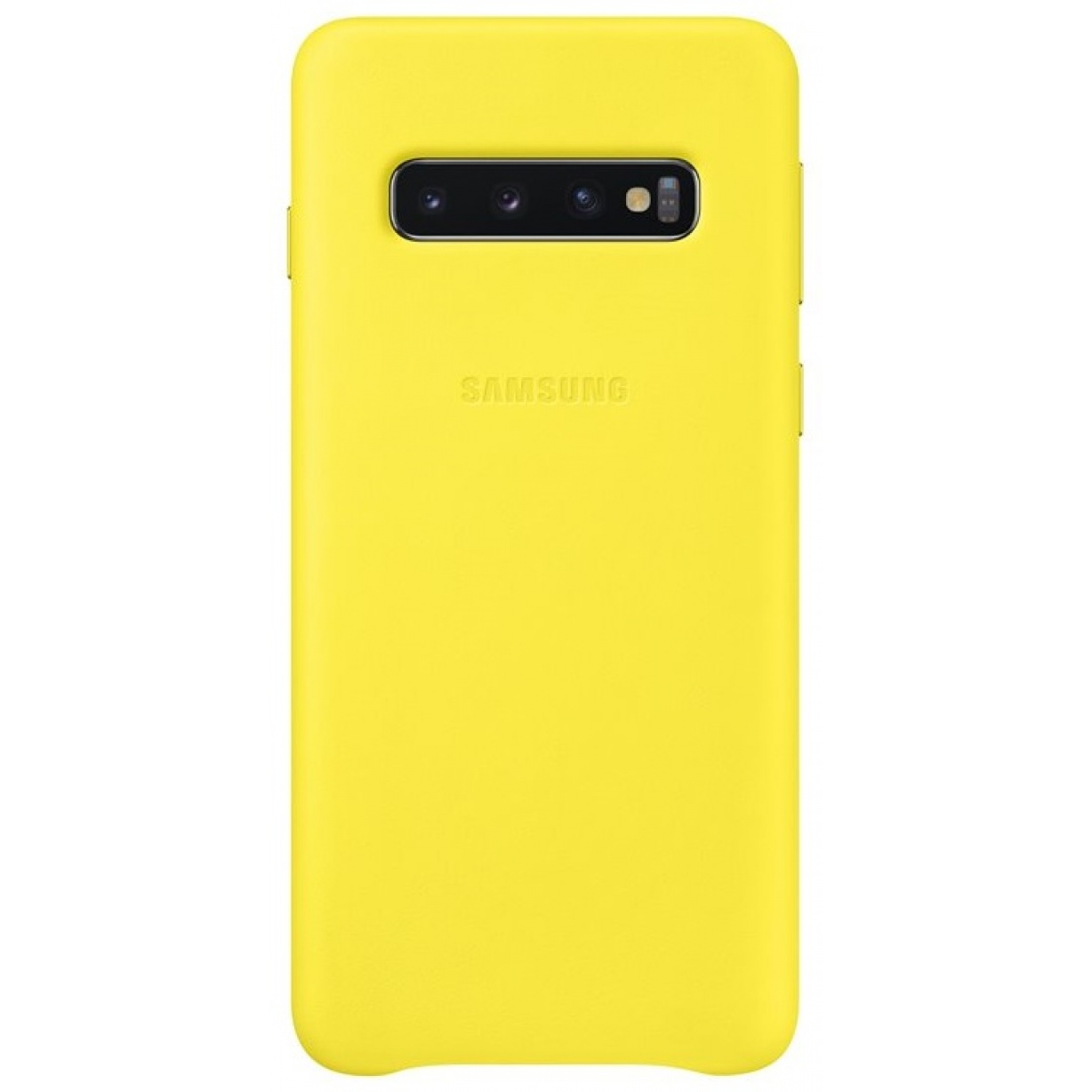 Nugarėlė G973 Samsung Galaxy S10 Leather Cover Yellow