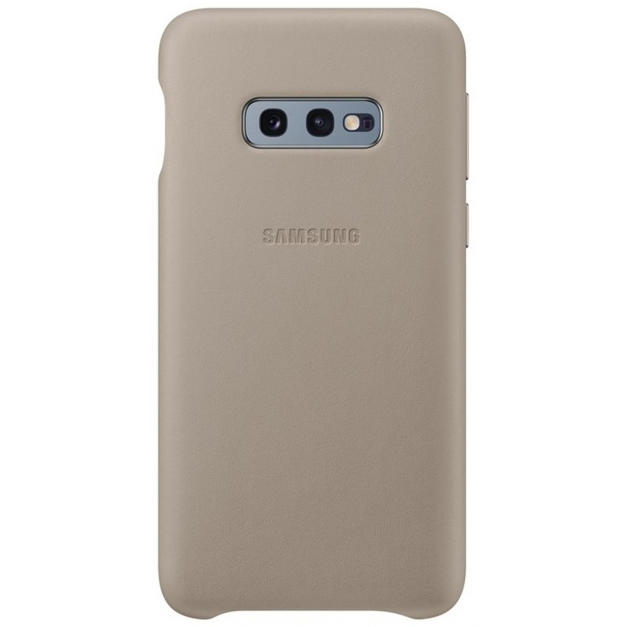 Nugarėlė G970 Samsung Galaxy S10e Leather Cover Grey