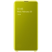 Dėklas G970 Samsung Galaxy S10e Clear View Cover Yellow