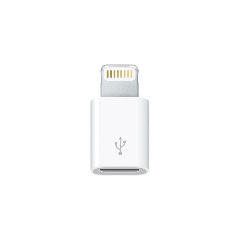 Adapteris Apple Lightning to Micro USB Baltas