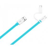 Kabelis Huawei AP55S USB to micro USB su Type C adapteriu 1.5m Mėlynas