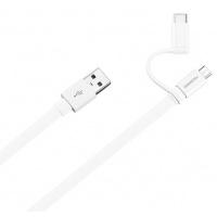 Kabelis Huawei AP55S USB to micro USB su Type C adapteriu 1.5m Baltas
