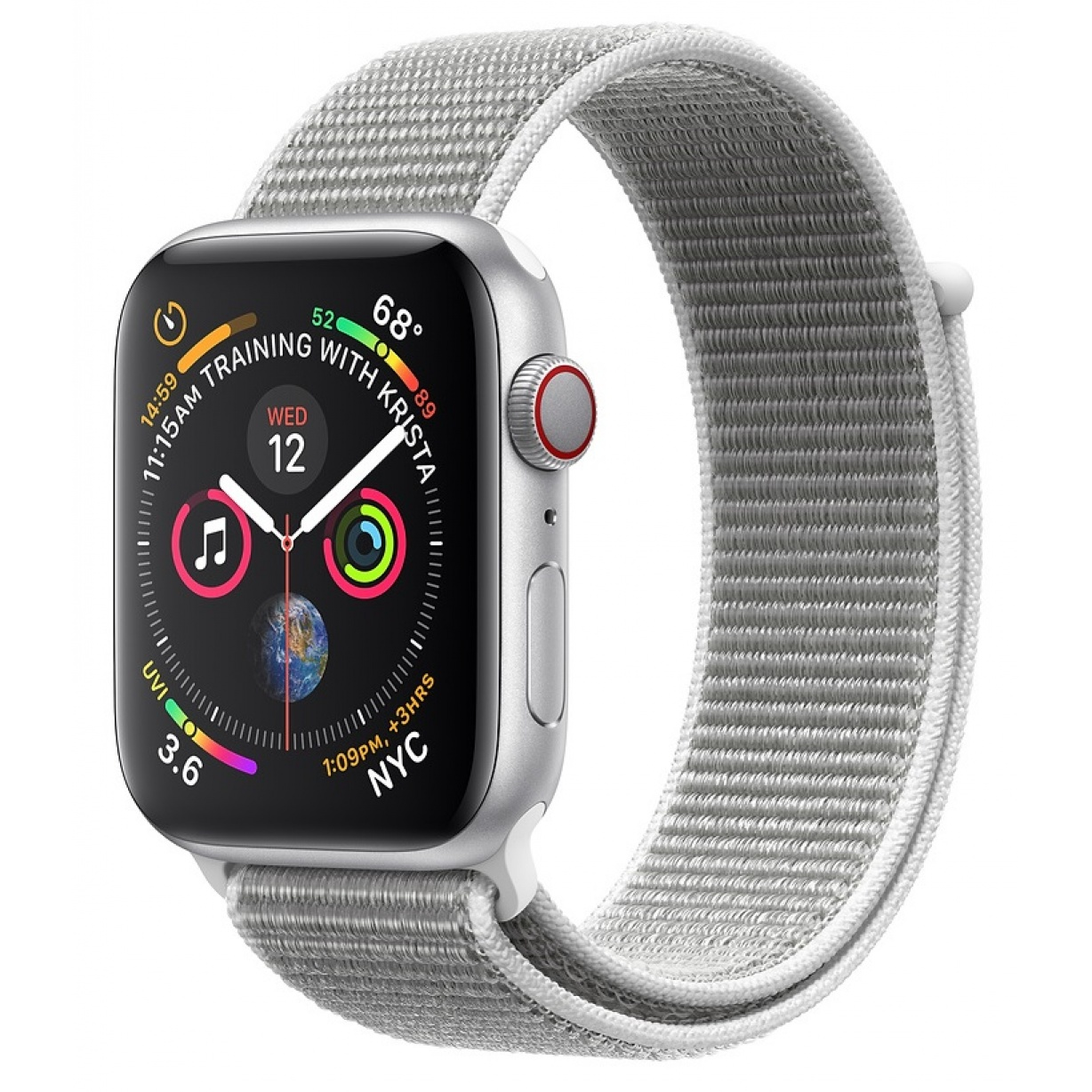 Apple Watch 4 44mm Silver/Seashell Sport Loop