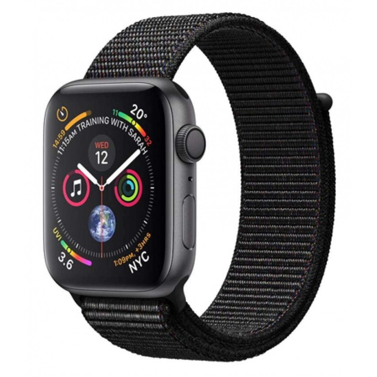 Apple Watch 4 44mm Gray/Black Sport Loop